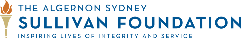 The Sullivan Foundation Logo with additional text, Inspiring Lives of Integrity and Service